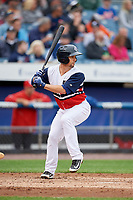 Syracuse Chiefs catcher Tuffy Gosewisch (11) at bat during a game against the Scranton/Wilkes-Barre RailRiders on June 14, 2018 at NBT Bank Stadium in Syracuse, New York.  Scranton/Wilkes-Barre defeated Syracuse 9-5.  (Mike Janes/Four Seam Images)