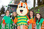 Marty the Squiller with l-r: Marian Wilson, Suzanne Lane, Shauna Dobbins and Emer O'Sullivan at the Killarney St Patricks Day parade on Sunday