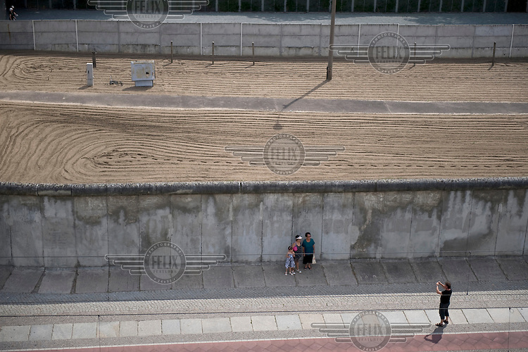 Remains of the Berlin Wall at the Berlin Wall Memorial.
