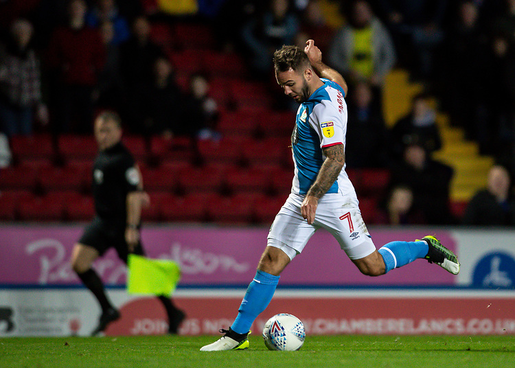 Blackburn Rovers' Adam Armstrong breaks<br /> <br /> Photographer Andrew Kearns/CameraSport<br /> <br /> The EFL Sky Bet Championship - Blackburn Rovers v Nottingham Forest - Tuesday 1st October 2019  - Ewood Park - Blackburn<br /> <br /> World Copyright © 2019 CameraSport. All rights reserved. 43 Linden Ave. Countesthorpe. Leicester. England. LE8 5PG - Tel: +44 (0) 116 277 4147 - admin@camerasport.com - www.camerasport.com
