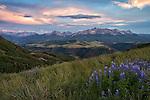 Sunset on Last Dollar Road, just outside Telluride, Colorado. We did some 4-wheeling to find this vantage point.