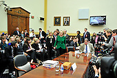 """United States Secretary of State Hillary Rodham Clinton arrives to give testimony before the U.S. House Committee on Foreign Relations on """"Terrorist Attack in Benghazi: The Secretary of State's View"""" in Washington, D.C. on Wednesday, January 23, 2013..Credit: Ron Sachs / CNP.(RESTRICTION: NO New York or New Jersey Newspapers or newspapers within a 75 mile radius of New York City)"""