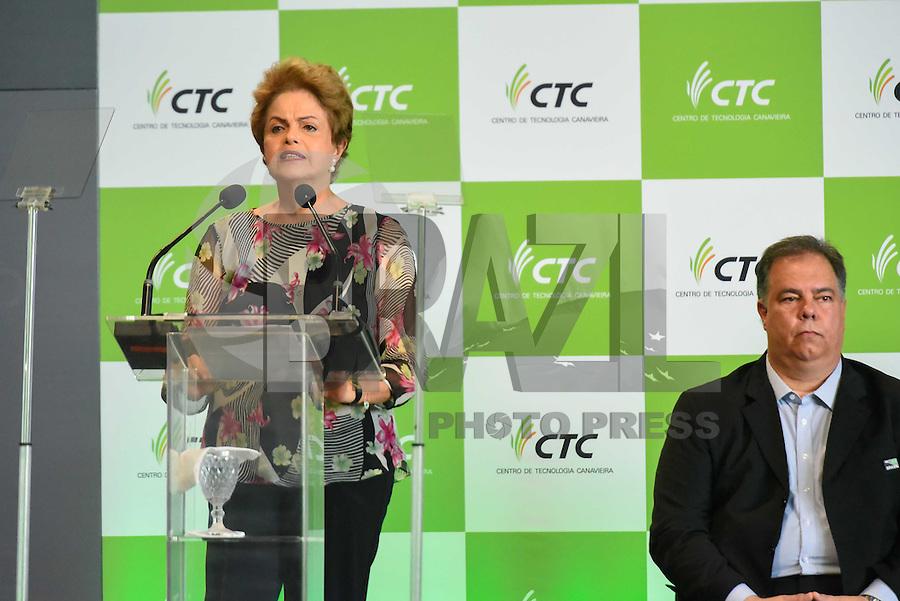 PIRACICABA,SP, 14.10.2015 - DILMA-SP. A presidente Dilma Rousseff durante a inauguração do complexo de laboratórios de biotecnologia do CTC ( Centro de Tecnologia Canavieira ), em Piracicaba (SP), nesta quarta-feira, 14.(Foto: Mauricio Bento/ Brazil Photo Press/Folhapress)