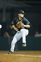 Army Black Knights relief pitcher Blake Walters (10) in action against the Auburn Tigers at Doak Field at Dail Park on June 2, 2018 in Raleigh, North Carolina. The Tigers defeated the Black Knights 12-1. (Brian Westerholt/Four Seam Images)