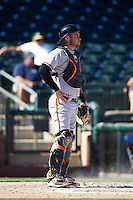 Peoria Javelinas Austin Wynns (21), of the Baltimore Orioles organization, during a game against the Surprise Saguaros on October 20, 2016 at Surprise Stadium in Surprise, Arizona.  Peoria defeated Surprise 6-4.  (Mike Janes/Four Seam Images)