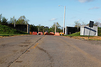The road is closed on Saturday, April 16, 2011 in Cape Girardeau, MO due to construction of the $125 million Cape Girardeau casino complex.