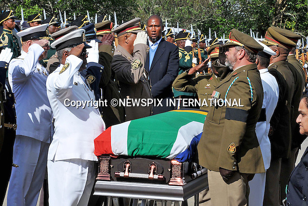 Qunu, South Africa: 14.12.2013: NELSON MANDELA BODY RETURNS TO QUNU<br /> The body of the former President Mandela returns to his family home in Qunu<br /> The casket is draped in the South African National Flag.<br /> The former President of South Africa Nelson Mandela will be buried in a private ceremony on Sunday 15th December 2013 in Qunu.<br /> Mandatory Credit Photo: &copy;Jiyane-GCIS/NEWSPIX INTERNATIONAL<br /> <br /> **ALL FEES PAYABLE TO: &quot;NEWSPIX INTERNATIONAL&quot;**<br /> <br /> IMMEDIATE CONFIRMATION OF USAGE REQUIRED:<br /> Newspix International, 31 Chinnery Hill, Bishop's Stortford, ENGLAND CM23 3PS<br /> Tel:+441279 324672  ; Fax: +441279656877<br /> Mobile:  07775681153<br /> e-mail: info@newspixinternational.co.uk