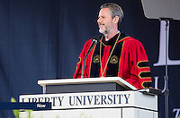 President Jerry Falwell, Jr. speaks at Liberty University's Commencement on May 14, 2016.