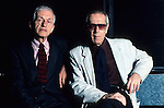 Italian authors Franco Fruttero and Carlo Lucentini in a Paris bar.
