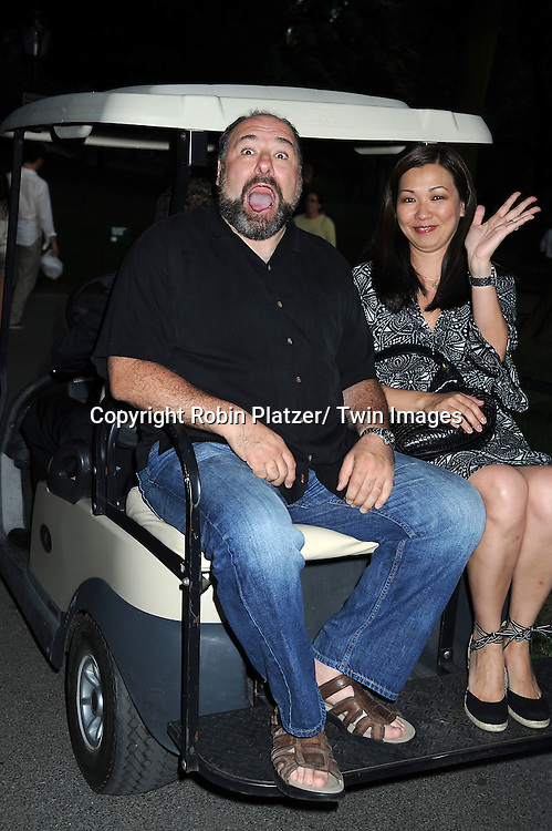 James Gandolfini and wife Deborah Lin attending the Public Theatre's Annual  Gala on June 21, 2010 in Central Park in New York City.