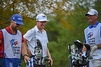 Jonas Blixt (SWE) shares a laugh on the tee on 2 during day 2 of the Valero Texas Open, at the TPC San Antonio Oaks Course, San Antonio, Texas, USA. 4/5/2019.<br /> Picture: Golffile | Ken Murray<br /> <br /> <br /> All photo usage must carry mandatory copyright credit (&copy; Golffile | Ken Murray)