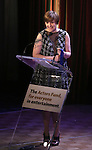 Lena Dunham  during the presentation of the 2013 Actors Fund Annual Gala honoring Robert De Niro at the Mariott Marquis Hotel in New York on 4/29/2013...