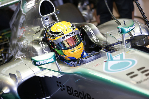 15.03.2013 Melbourne, Australia.  Lewis Hamilton GBR during the practice session ahead of the Australian Grand Prix.