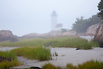 Annisquam Light in the fog, Gloucester, MA, USA