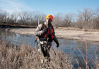 OutdoorLife Editor Andrew McKean (cq) hunting for white tail deer in Superior, Nebraska, Friday, December 2, 2011. ..Photo by Matt Nager