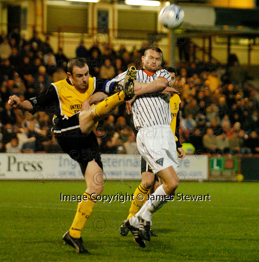 19/11/2005         Copyright Pic : James Stewart.File Name : sct_jspa08 dunf v livingston.DAVE MACKAY CLEARS FROM SCOTT WILSON...Payments to :.James Stewart Photo Agency 19 Carronlea Drive, Falkirk. FK2 8DN      Vat Reg No. 607 6932 25.Office     : +44 (0)1324 570906     .Mobile   : +44 (0)7721 416997.Fax         : +44 (0)1324 570906.E-mail  :  jim@jspa.co.uk.If you require further information then contact Jim Stewart on any of the numbers above.........