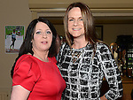 Sharon O'Sullivan and Lorna Gallagher pictured at the East Meath United celebration night in Laytown and Bettystown golf club. Photo:Colin Bell/pressphotos.ie