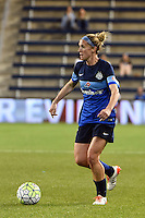 Kansas City, Kansas - Saturday April 16, 2016: FC Kansas City midfielder Jen Buczkowski (6) moves the ball against Western New York Flash in the second half at Children's Mercy Park. Western New York won 1-0.