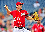 15 August 2010: Washington Nationals rookie starting pitcher Stephen Strasburg on the mound against the Arizona Diamondbacks at Nationals Park in Washington, DC. The Nationals defeated the Diamondbacks 5-3 to take the rubber match of their 3-game series. Mandatory Credit: Ed Wolfstein Photo