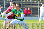 Kerry's Kieran Donaghy gets the ball ahead of Galwey's Colin Forde during their Allianz National Football League clash in Killarney last Sunday