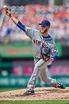29 April 2017: New York Mets pitcher Zack Wheeler on the mound against the Washington Nationals at Nationals Park in Washington, DC. The Mets defeated the Nationals 5-3 to take the second game of their 3-game weekend series. Mandatory Credit: Ed Wolfstein Photo *** RAW (NEF) Image File Available ***