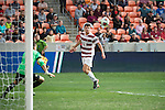 HOUSTON, TX - DECEMBER 11:  Tomas Hilliard-Arce (4) of Stanford University crosses the ball in to the penalty box during the Division I Men's Soccer Championship held at the BBVA Compass Stadium on December 11, 2016 in Houston, Texas.  Stanford defeated Wake Forest 1-0 in a penalty shootout for the national title. (Photo by Justin Tafoya/NCAA Photos via Getty Images)