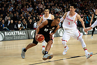 New Zealand Tall Blacks&rsquo; Mika Vukona in action during the FIBA World Cup Basketball Qualifier - NZ Tall Blacks v China at Spark Arena, Auckland, New Zealand on Sunday 1 July 2018.<br /> Photo by Masanori Udagawa. <br /> www.photowellington.photoshelter.com