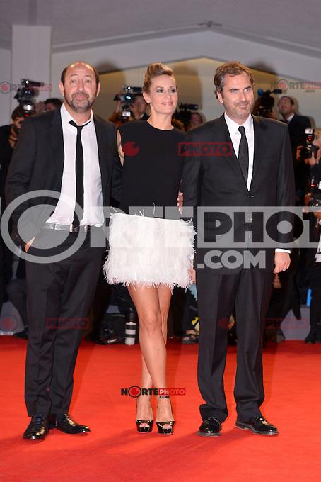 August 30, 2012: Kad Merad, Cecile De France and Xavier Giannoli attend the &quot;Superstar&quot; Screening during the 69th Venice International Film Festival at Palazzo del Casino in Venice, Italy..Credit: &copy; F2F / MediaPunch Inc. /NortePhoto.com<br /> <br /> **CREDITO*OBLIGATORIO** <br /> *No*Venta*A*Terceros*<br /> *No*Sale*So*third*<br /> *** No*Se*Permite*Hacer*Archivo**<br /> *No*Sale*So*third*