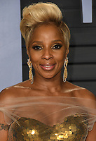 04 March 2018 - Los Angeles, California - Mary J. Blige. 2018 Vanity Fair Oscar Party hosted following the 90th Academy Awards held at the Wallis Annenberg Center for the Performing Arts. <br /> CAP/ADM/BT<br /> &copy;BT/ADM/Capital Pictures