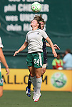 18 July 2009: Saint Louis' Kendall Fletcher (24) and Washington's Sonia Bompastor (FRA) (behind). The Washington Freedom defeated Saint Louis Athletica 1-0 at the RFK Stadium in Washington, DC in a regular season Women's Professional Soccer game.