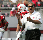 9 September 2006: North Carolina State head coach Chuck Amato. Akron defeated North Carolina State 20-17 at Carter-Finley Stadium in Raleigh, North Carolina in an NCAA college football game.