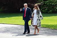 President Trump and Melania Trump Depart Washington DC