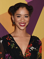 BEVERLY HILLS, CA - JANUARY 07: Actress Jasmin Savoy Brown arrives at HBO's Official Golden Globe Awards After Party at Circa 55 Restaurant in the Beverly Hilton Hotel on January 7, 2018 in Los Angeles, California.