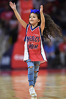 Washington, DC - June 1, 2019: Washington Mystics dnacer performs during a timeout of game between Atlanta Dream and Washington Mystics at the St. Elizabeths East Entertainment and Sports Arena (Photo by Phil Peters/Media Images International)