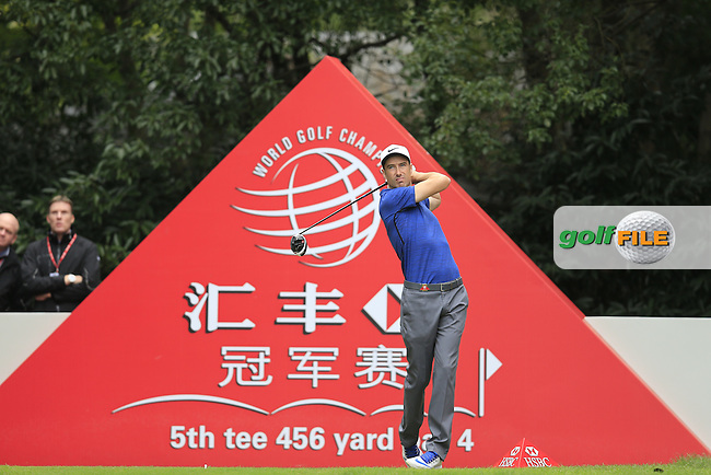 Ross Fisher (ENG) on the 5th tee during the final round of the WGC-HSBC Champions, Sheshan International GC, Shanghai, China PR.  30/10/2016<br /> Picture: Golffile | Fran Caffrey<br /> <br /> <br /> All photo usage must carry mandatory copyright credit (&copy; Golffile | Fran Caffrey)