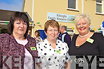 WELCOME: Providing the welcome at the official opening of the Killorglin Family Resource Centre on Friday were committee members, Kathleen Bailey, Maureen Gamble, Helen O'Shea (Chairperson).OLD FRIENDS: John O'Donoghue TD was joined by former minister and current Chairman of the Family Support Agency, Michael O'Kennedy at the opening of the Killorglin Family Resource Centre on Friday last.