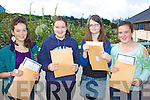 The Sun came out and the results of the Junior cert in Colaiste na Sceilge Cahersiveen were even brighter pictured here l-r; Grace Lynch, Jane Kovacs, Julianne Sugrue & Ciara Lyne all delighted with their results.