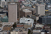 Aerial photograph Bank of America Computer Center Market Street California Automobile Association tower 100 Van Ness Ave  San Francisco