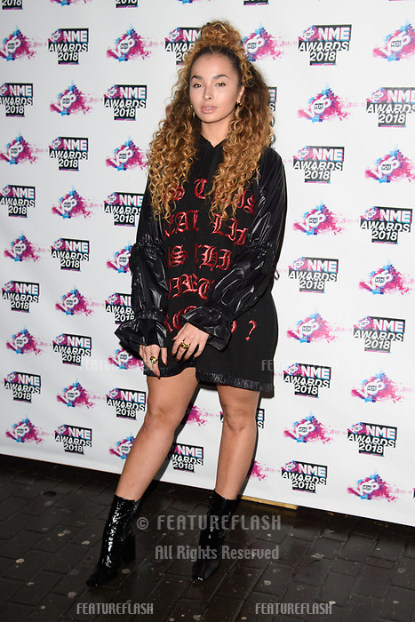 Ella Eyre at the VO5 NME Awards 2018 at the Brixton Academy, London, UK. <br /> 14 February  2018<br /> Picture: Steve Vas/Featureflash/SilverHub 0208 004 5359 sales@silverhubmedia.com