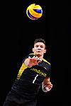 13.09.2019, Paleis 12, BrŸssel / Bruessel<br />Volleyball, Europameisterschaft, Deutschland (GER) vs. Serbien (SRB)<br /><br />Aufschlag / Service Christian Fromm (#1 GER)<br /><br />  Foto © nordphoto / Kurth