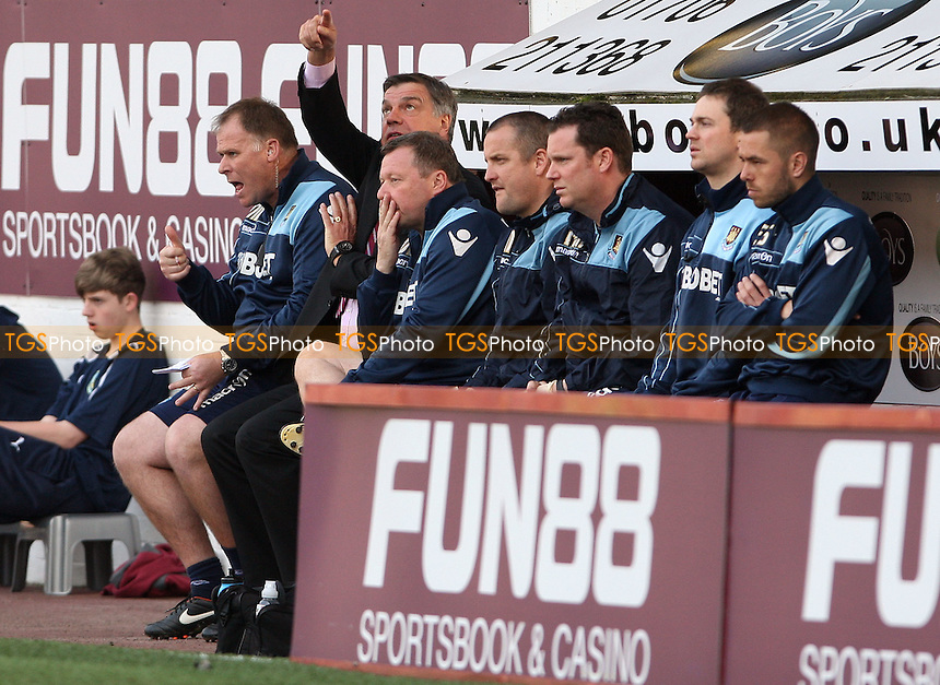 Sam Allardyce gives instructions from the West Ham bench - Burnley vs West Ham United, npower Championship at Turf Moor, Burnley - 24/03/12 - MANDATORY CREDIT: Rob Newell/TGSPHOTO - Self billing applies where appropriate - 0845 094 6026 - contact@tgsphoto.co.uk - NO UNPAID USE..