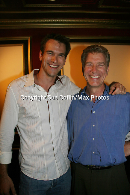 Adam Mayfield & Christopher Cass attend the show on July 30, 2009 at The Triad, New York City, New York before actors, friends, fans and family. (Photo by Sue Coflin/Max Photos)