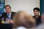© Joel Goodman - 07973 332324 . No syndication permitted . 29/09/2013 . Manchester , UK . RT HON DOMINIC GRIEVE QC MP and SHAMI CHAKRABARTI at a fringe event organised by Liberty . Day 1 of the Conservative Party Conference at Manchester Central . Photo credit : Joel Goodman