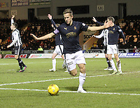 Will Vaulks in the St Mirren v Falkirk Scottish Professional Football League Ladbrokes Championship match played at the Paisley 2021 Stadium, Paisley on 1.3.16.