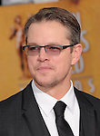 Matt Damon attends The 20th SAG Awards held at The Shrine Auditorium in Los Angeles, California on January 18,2014                                                                               © 2014 Hollywood Press Agency