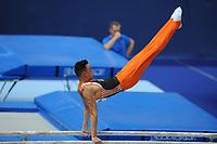 TURNEN: ROTTERDAM: 18-06-2017, NK Fantastic Gymnastics, Michel Bletterman goud op brug, ©foto Martin de Jong