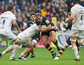 1st October 2017, Ricoh Arena, Coventry, England; Aviva Premiership rugby, Wasps versus Bath Rugby;  Thomas Young makes a break for Wasps