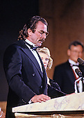 Actor Tom Selleck makes remarks at the American Institute of Architects gala at the National Building Museum in Washington, DC on February 22, 1990.<br /> Credit: Ron Sachs / CNP