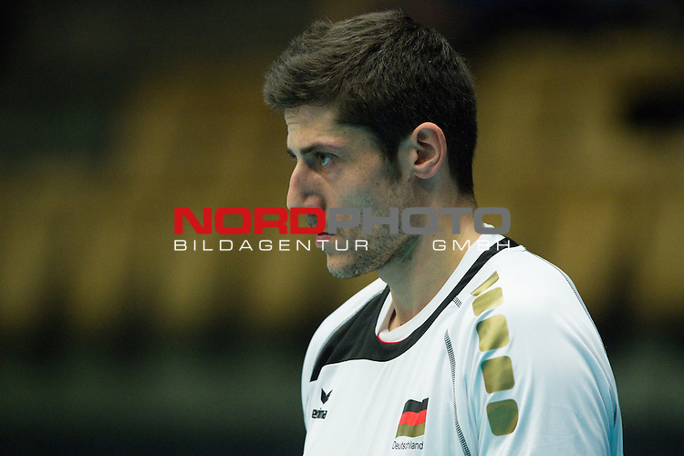 29.12.2013, Lotto Dome, Maaseik<br /> Volleyball, Belgien vs. Deutschland<br /> <br /> Michael Andrei (#18 GER)<br /> <br />   Foto &copy; nordphoto / Kurth