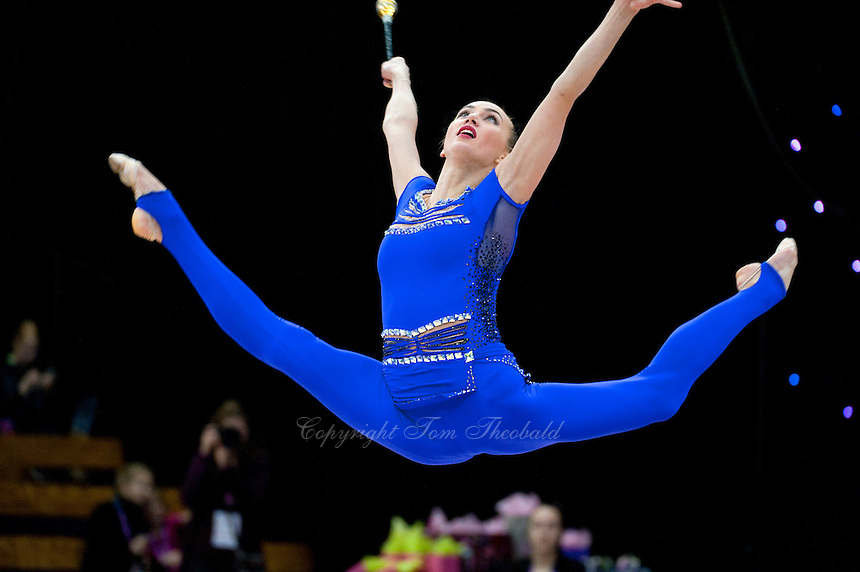 "February 14, 2016 - Tartu, Estonia - ANNA RIZATDINOVA of Ukraine wins gold in the Event Finals at ""Miss Valentine"" 2016 international tournament."